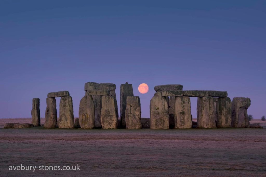 The moon and Stone henge circle